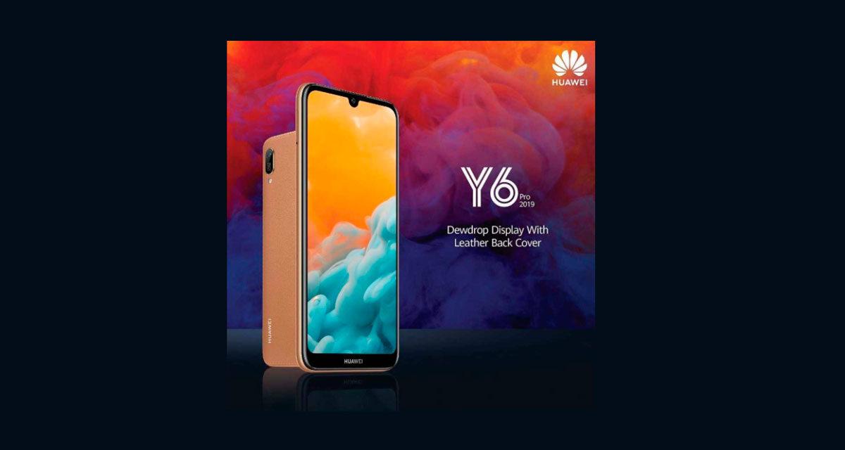 Huawei Y6 Pro 2019, móvil de gama de entrada con trasera de cuero