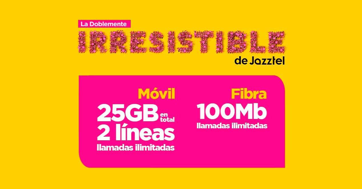 Así es la nueva tarifa de Jazztel con 2 líneas móviles y fibra de 100 MB