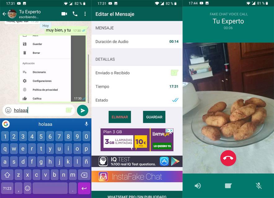 mensajes de whatsapp falsos