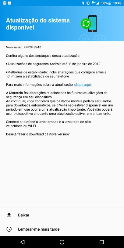 motorola moto g6 play android 9 pie 2