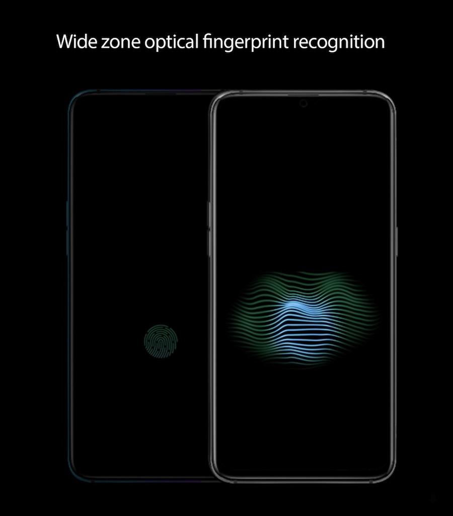 sensor de huellas en pantalla oppo