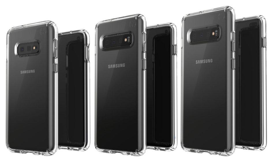 En esta imagen podemos ver las tres variantes del Samsung Galaxy S10