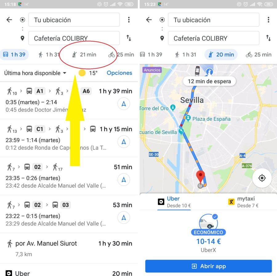 uber mitaxy google maps