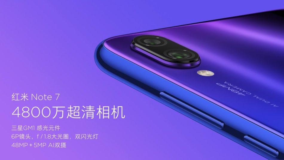 cámara del Xiaomi Redmi Note 7