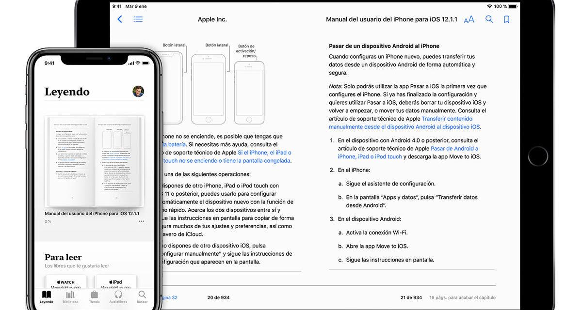 Cómo activar el modo oscuro en la app Libros para iPhone y iPad