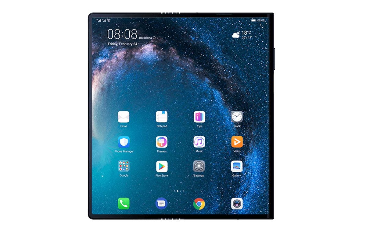 comparativa Huawei Mate X vs Samsung Galaxy Fold pantalla desplegada Mate X