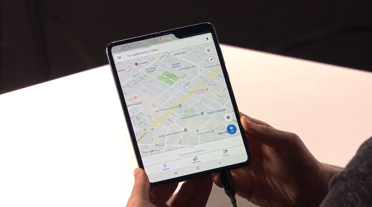 comparativa Huawei Mate X vs Samsung Galaxy Fold pantalla Fold abierta