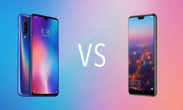 Comparativa Xiaomi Mi 9 vs Huawei P20 Pro