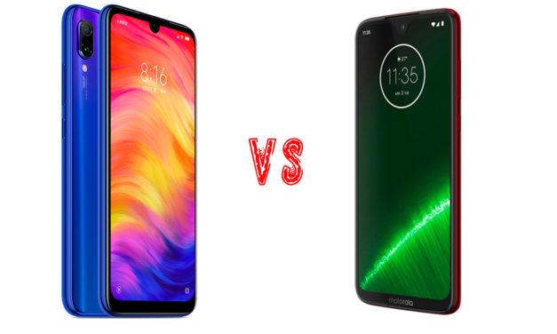 Comparativa Xiaomi Redmi Note 7 vs Motorola Moto G7 Plus