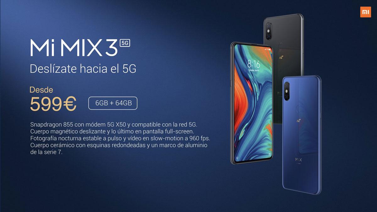 oficial Xiaomi Mi MIX 3 5G precio