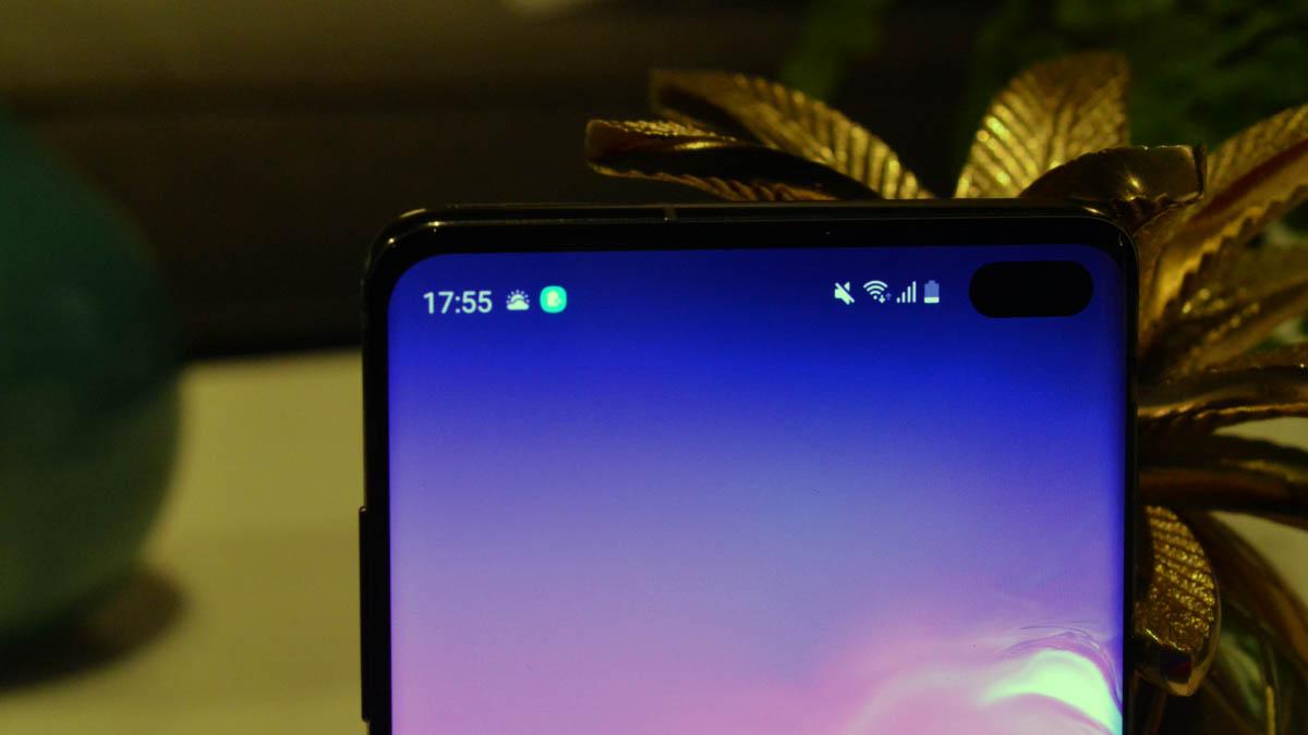 Samsung-galaxy-s10-plus parte alta pantalla