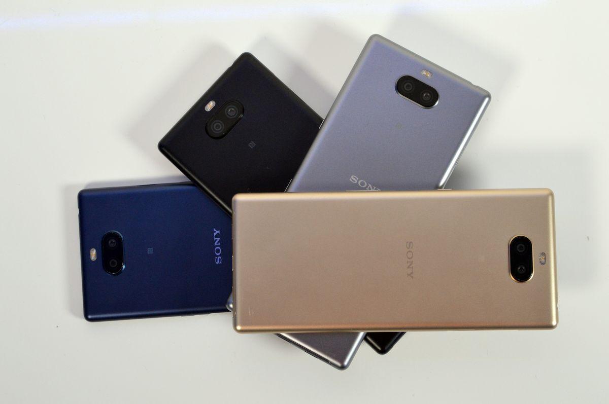 Sony-Xperia-10 en distintos colores
