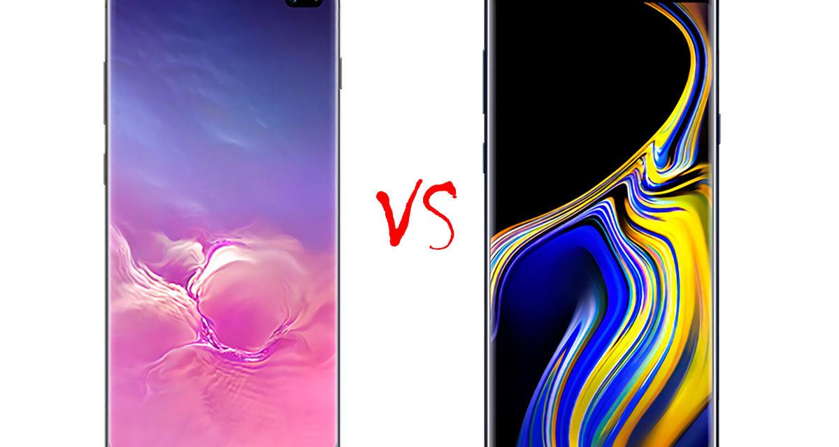 Comparativa Samsung Galaxy S10+ vs Samsung Galaxy Note 9