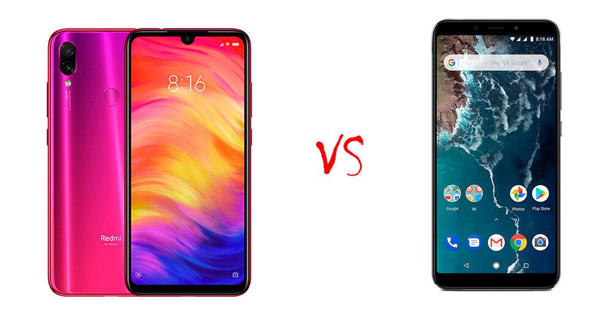 Comparativa Xiaomi Redmi Note 7 vs Xiaomi Mi A2