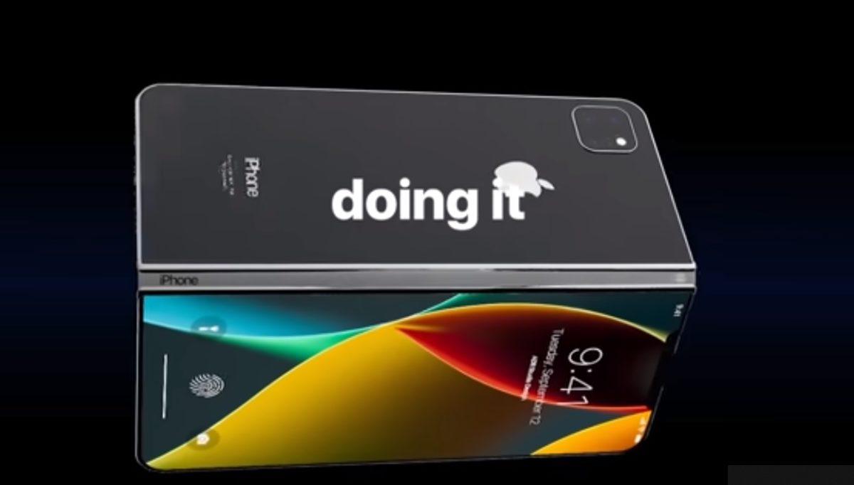 Así luciría un iPhone plegable con pantalla flexible