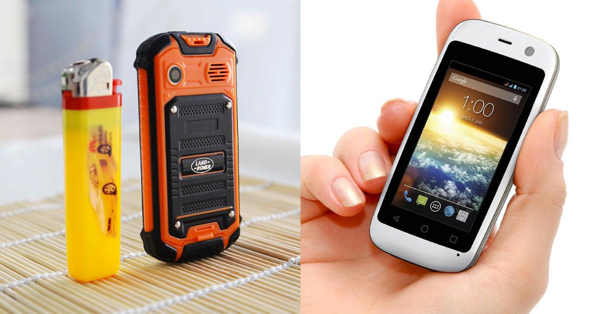 Así son los móviles más pequeños del mundo