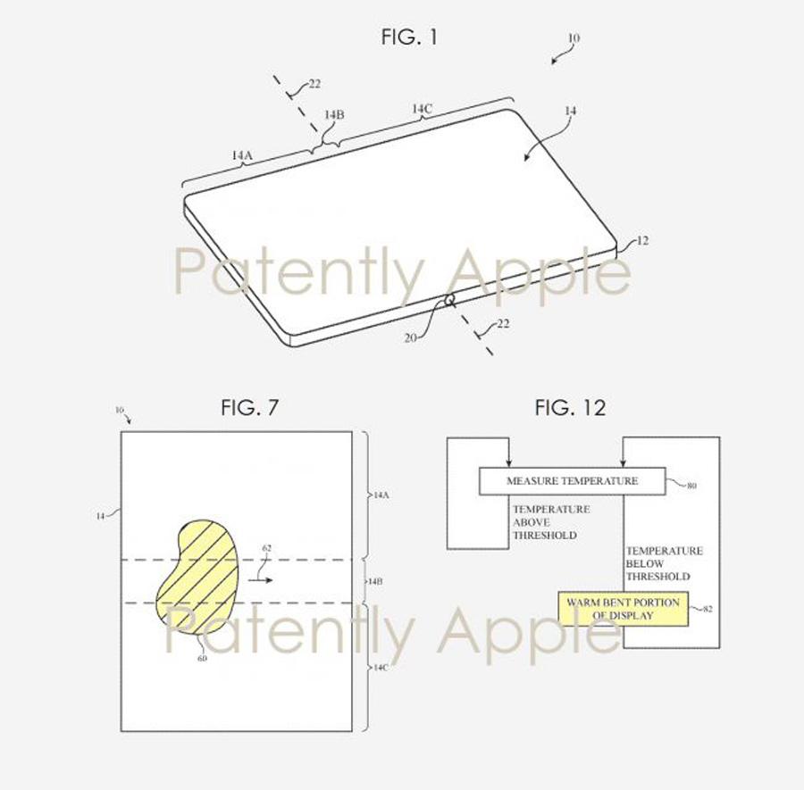 patente deja ver posible iPhone plegable calentar curvatura