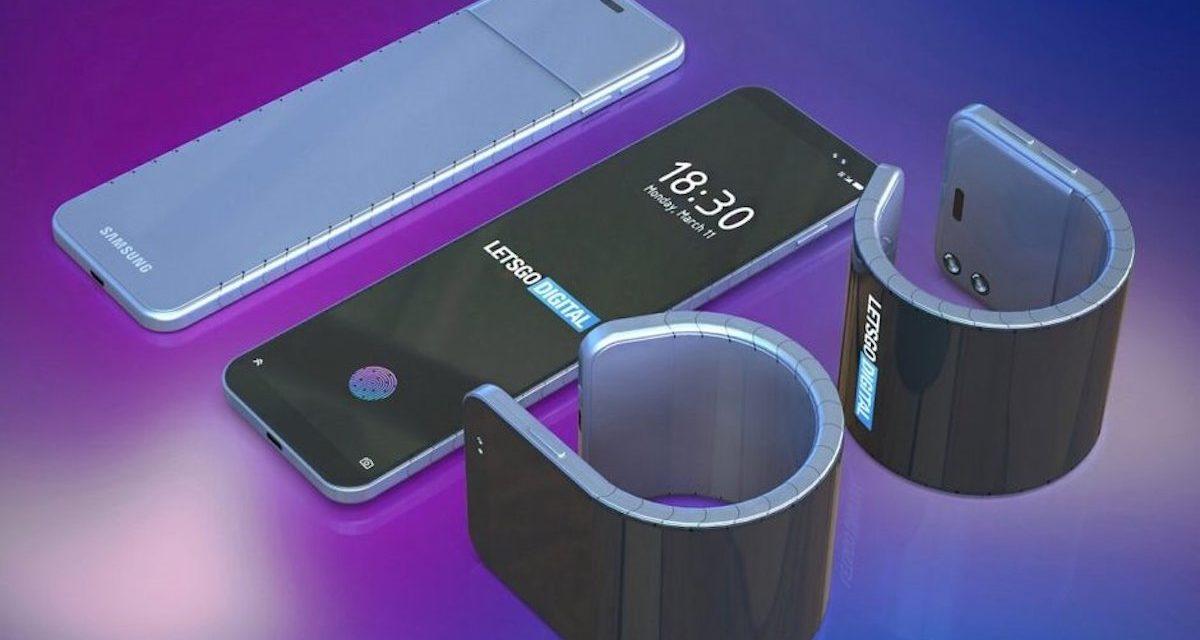 Samsung patenta nuevos teléfonos flexibles acoplables a la muñeca