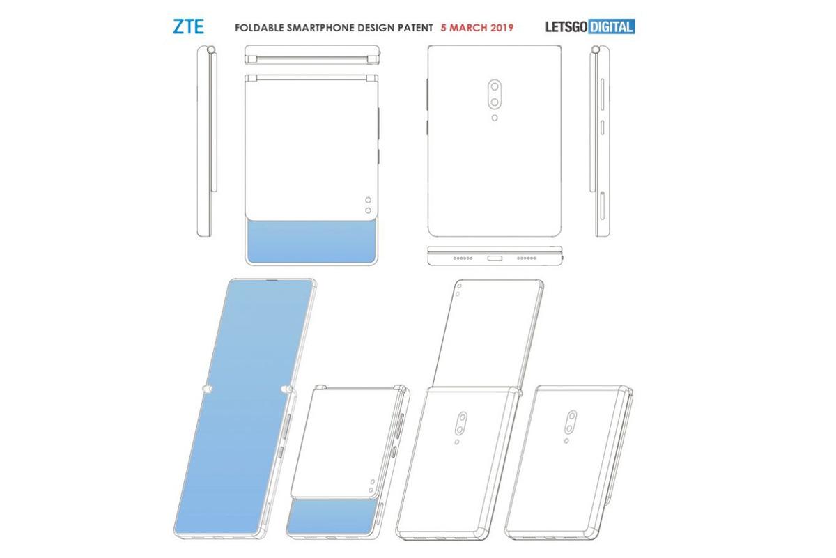 posible teléfono plegable de ZTE patente
