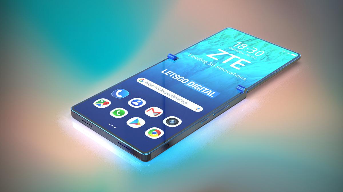 posible teléfono plegable de ZTE pantalla