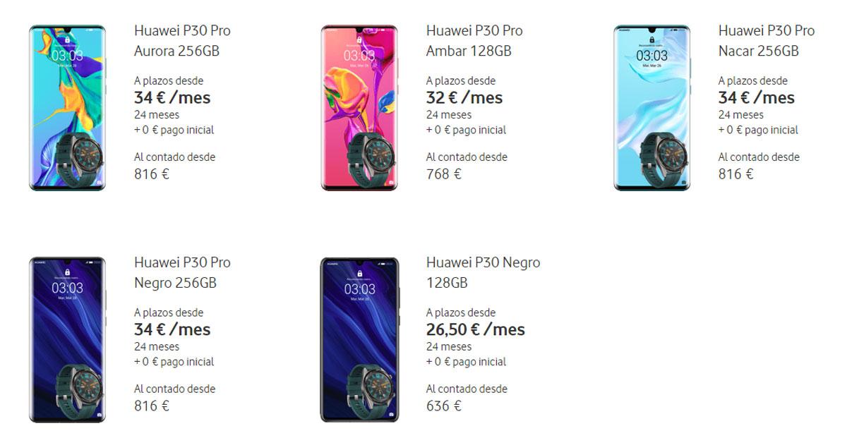 Huawei P30 Y P30 Pro  Precios Y Tarifas Con Movistar
