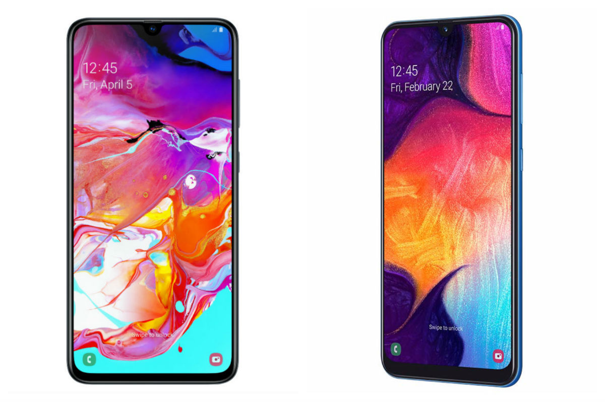 5 diferencias entre el Samsung Galaxy A70 y A50