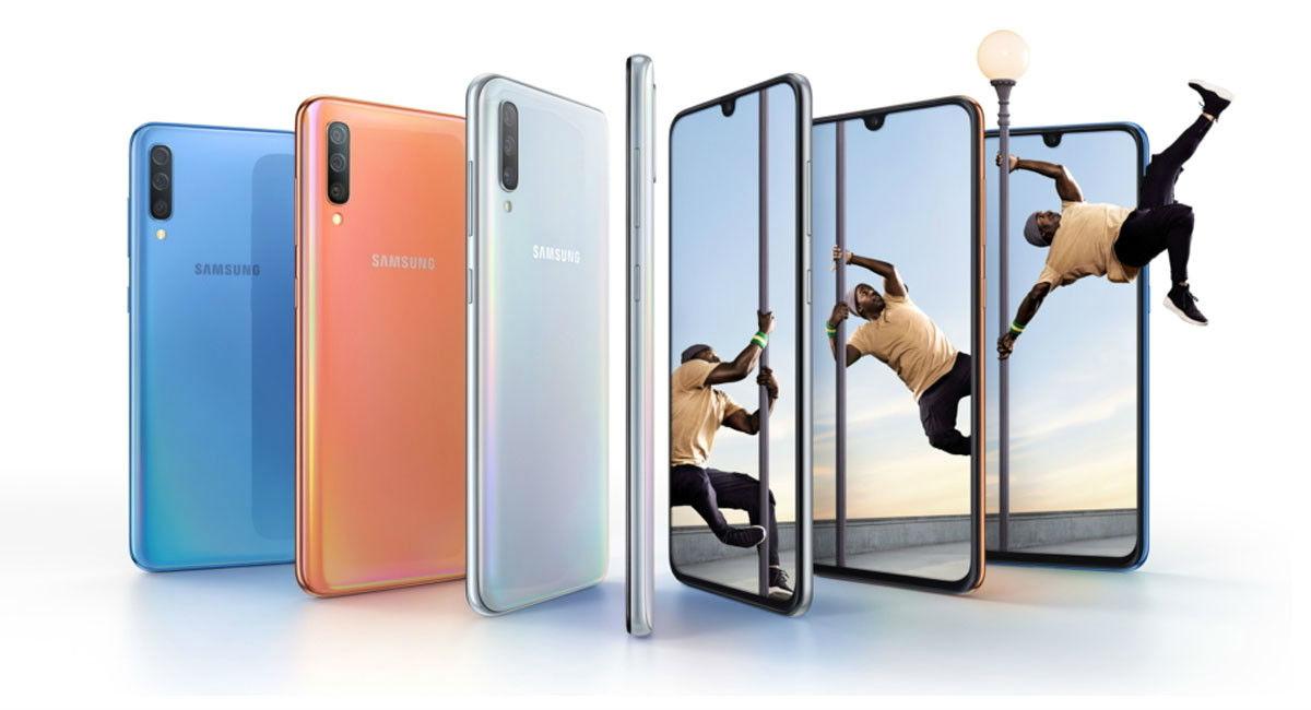 Samsung Galaxy A70 diseño