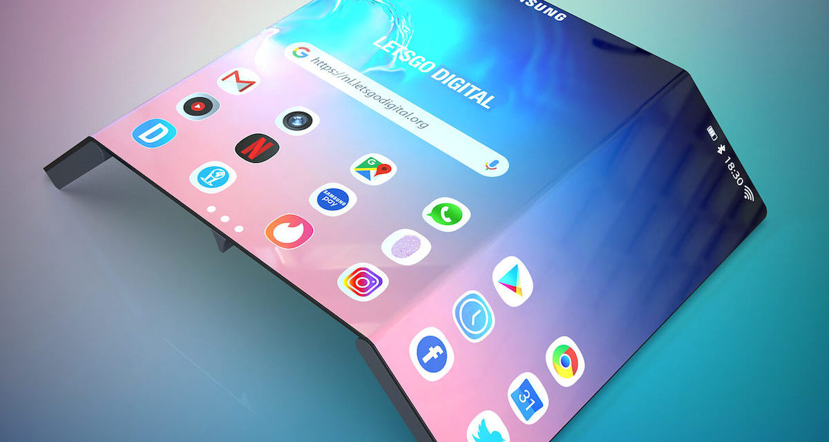Samsung patenta un nuevo móvil plegable muy parecido al Huawei Mate X