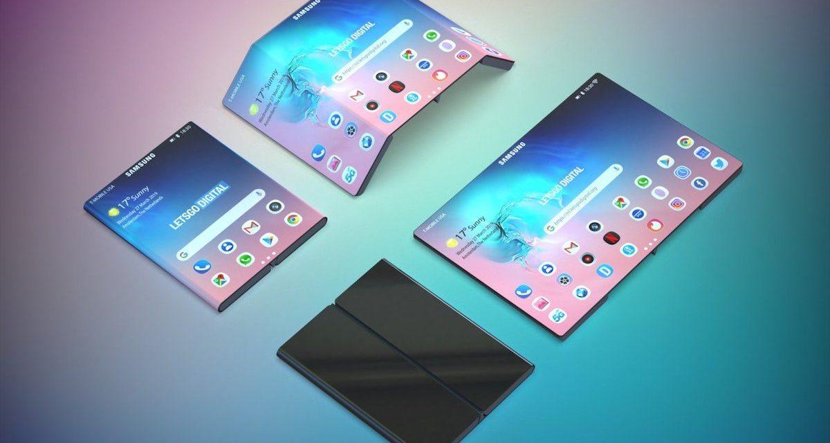 Samsung patenta un nuevo teléfono flexible con doble bisagra