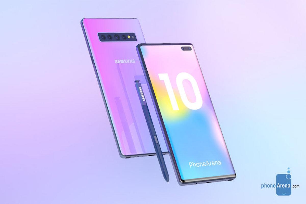 Aparecen los primeros renders del Samsung Galaxy Note 10