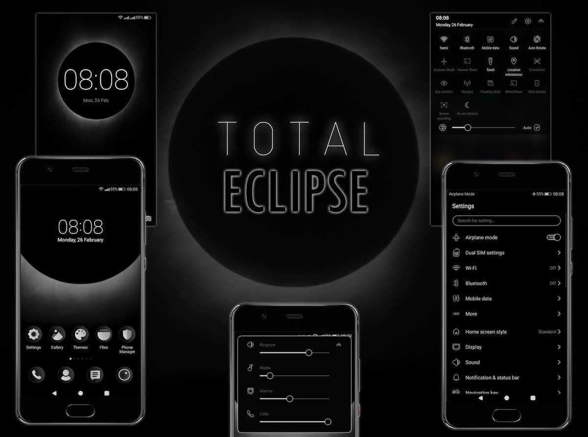 total eclipse tema huawei p20 lite