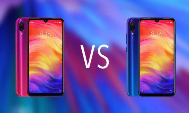 Comparativa Xiaomi Redmi Note 7 vs Xiaomi Redmi Note 7 Pro