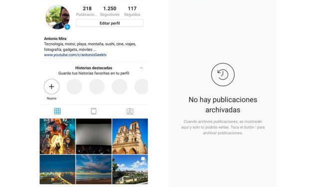 Cómo archivar y desarchivar una foto en Instagram para Android y iOS