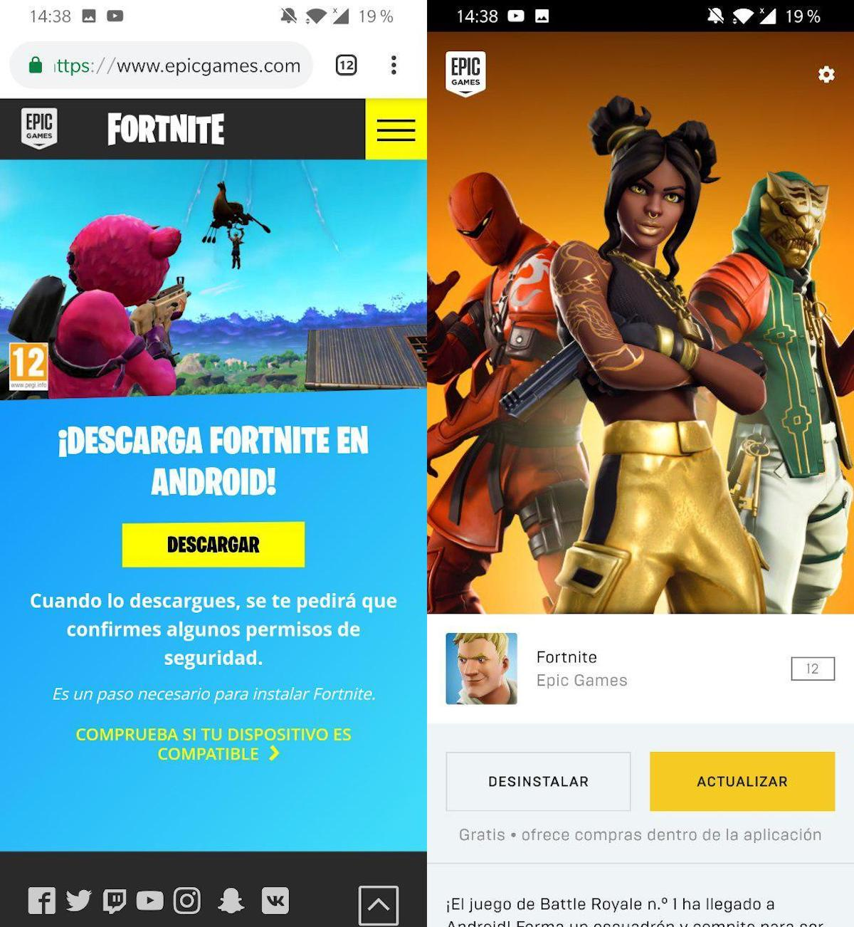 instalar fortnite android