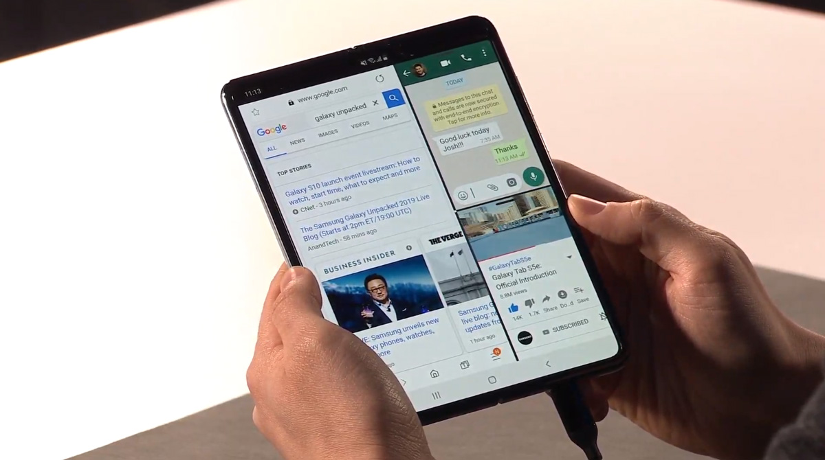 La pantalla del Samsung Galaxy Fold se rompe si se quita el protector