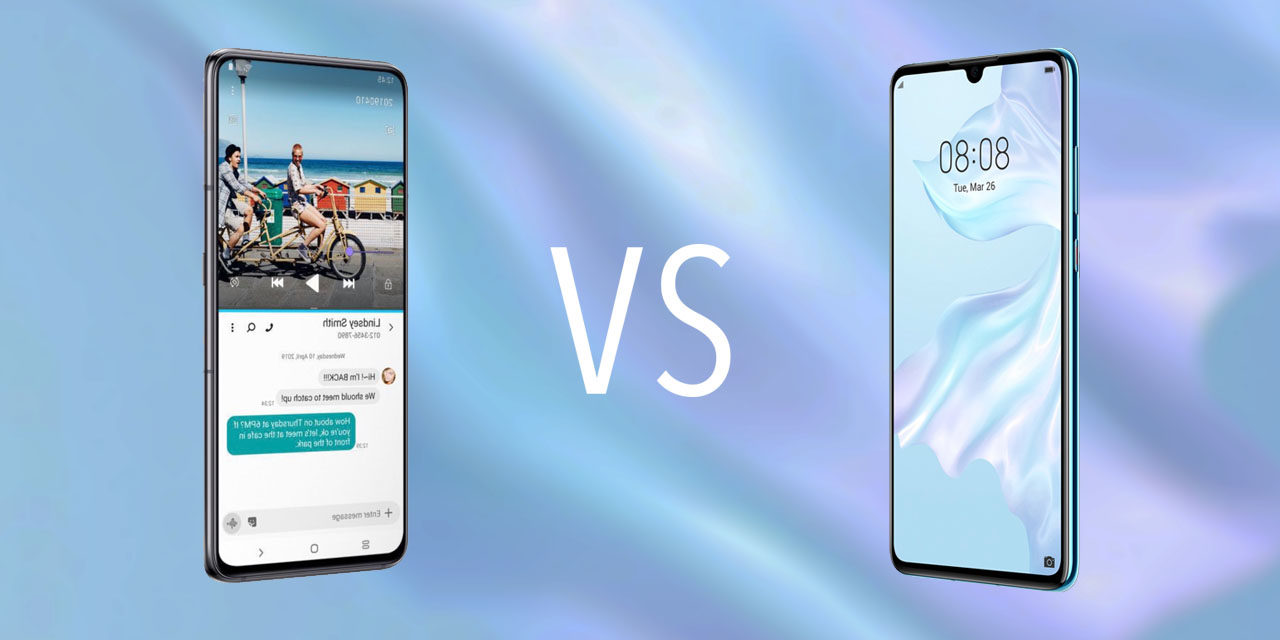 Comparativa Samsung Galaxy A80 vs Huawei P30