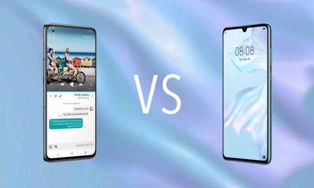 Comparativa Samsung Galaxy A80 vs Huawei P30