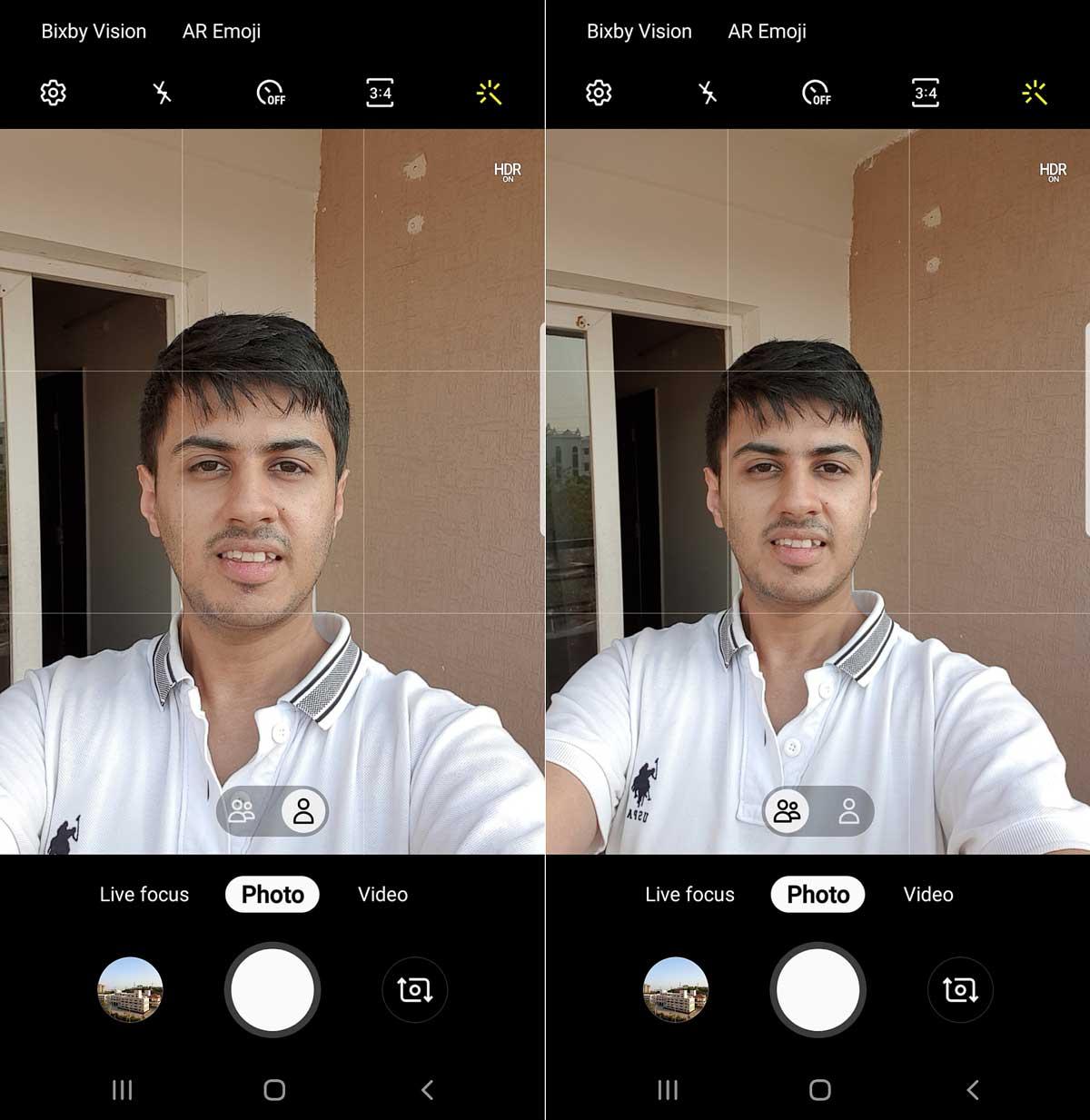 actualización abril 2019 Samsung Galaxy Note 9 cámara frontal