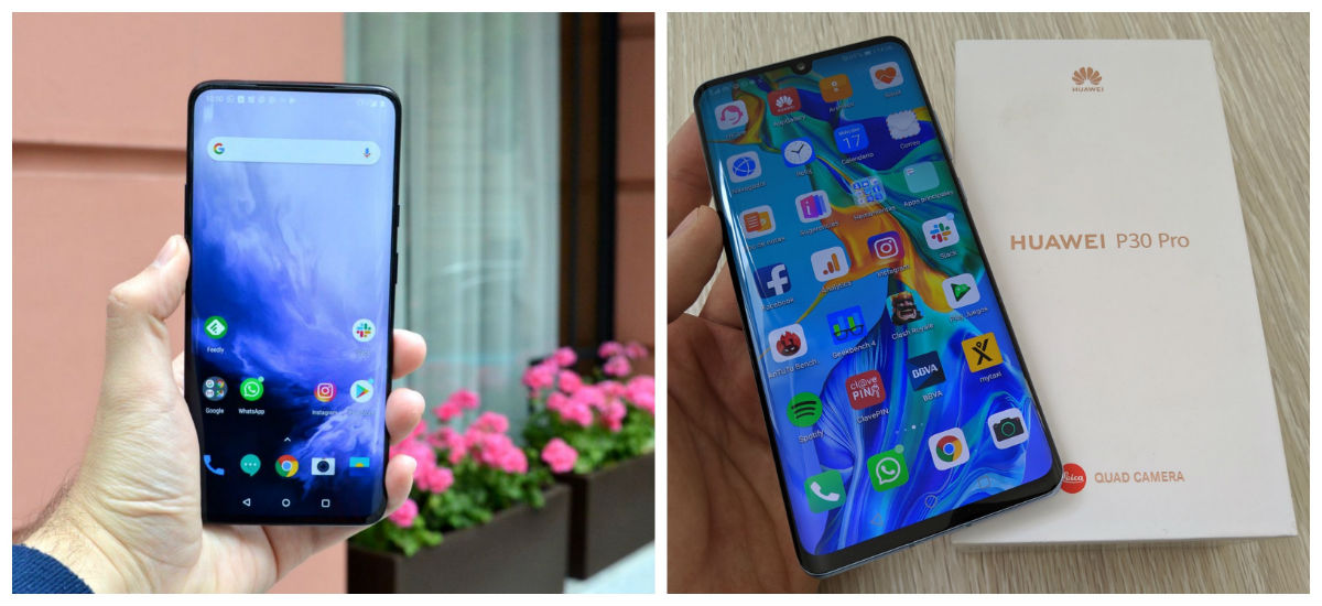 Comparativa OnePlus 7 Pro vs Huawei P30 Pro