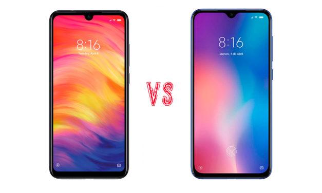 Comparativa Xiaomi Redmi Note 7 vs Xiaomi Mi 9 SE