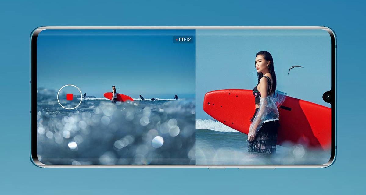 Los Huawei P30 y P30 Pro reciben Dos Vistas para grabar con dos cámaras a la vez