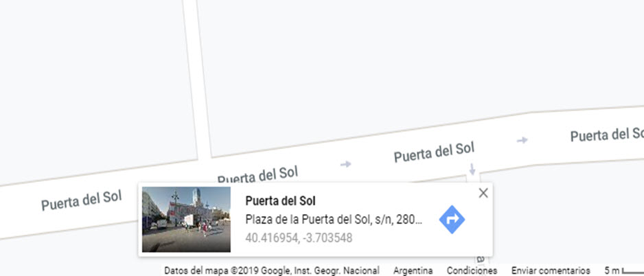 Compartir datos Google Maps