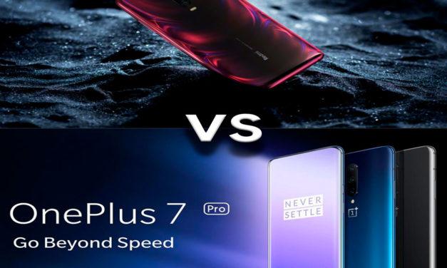 Comparativa Xiaomi Redmi K20 Pro vs OnePlus 7 Pro