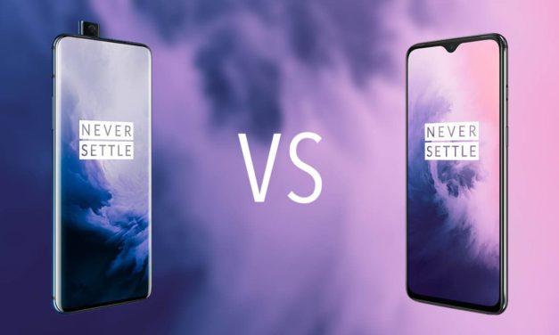 Comparativa OnePlus 7 Pro vs OnePlus 7