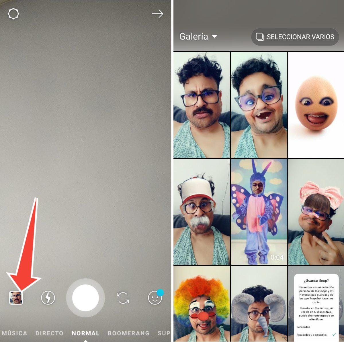 stories instagram snapchat