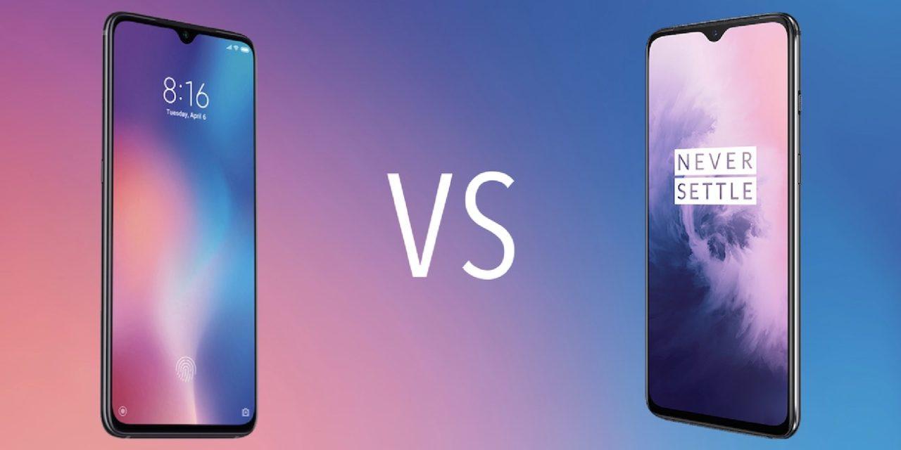 Comparativa Xiaomi Mi 9 vs OnePlus 7