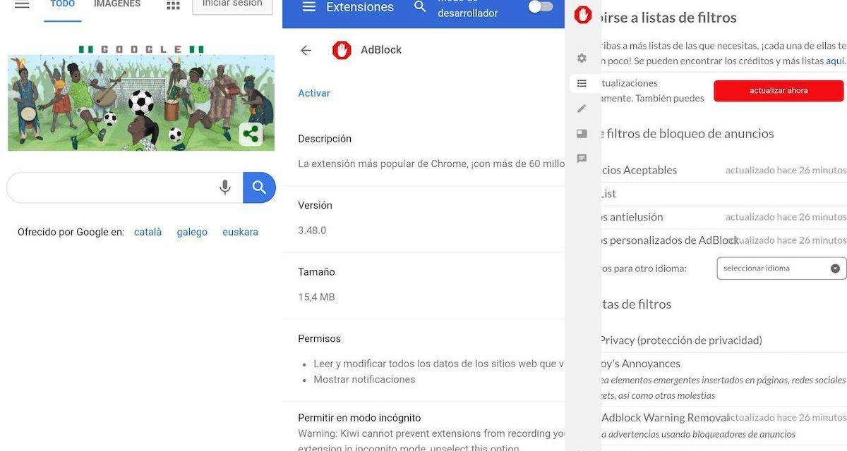Cómo instalar Adblock en Google Chrome para Android en móviles