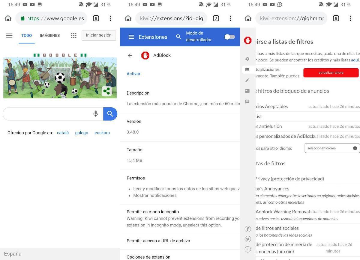 ▷ Cómo instalar Adblock en Google Chrome para Android en móviles