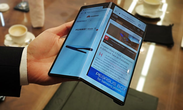 Huawei patenta un nuevo teléfono plegable con pantalla flexible