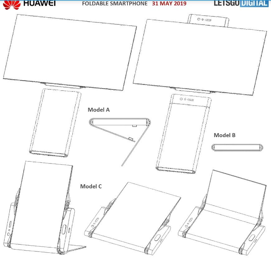 huawei patente plegable